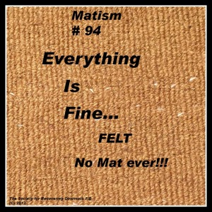 Everything is fine matism for series