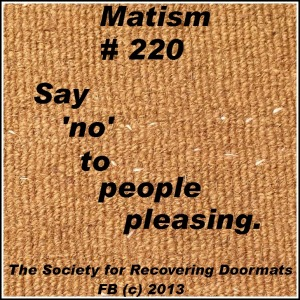 matism say no to people pleasing