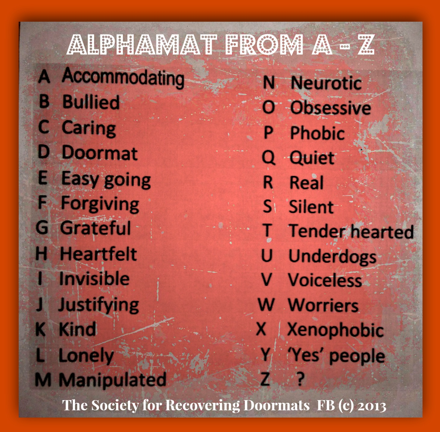 Alphamat from A - Z