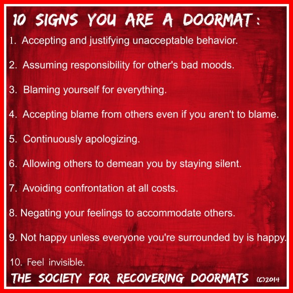 10 signs you are a doormat