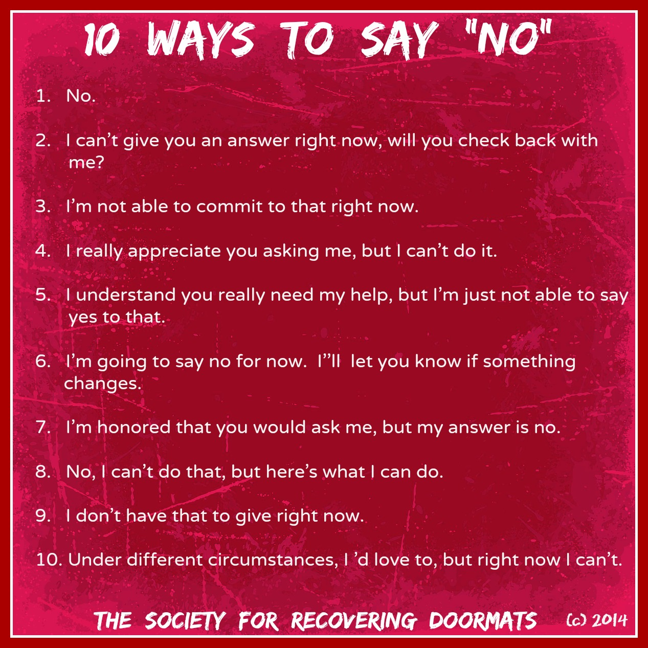 Ways To Say No To Sex 52