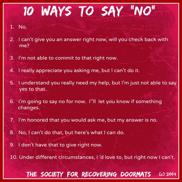10 ways to say no.