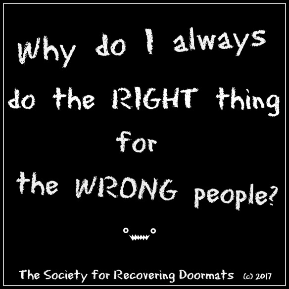 Right thing for wrong people